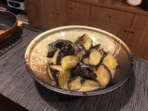 茄子のゴマ味噌煮